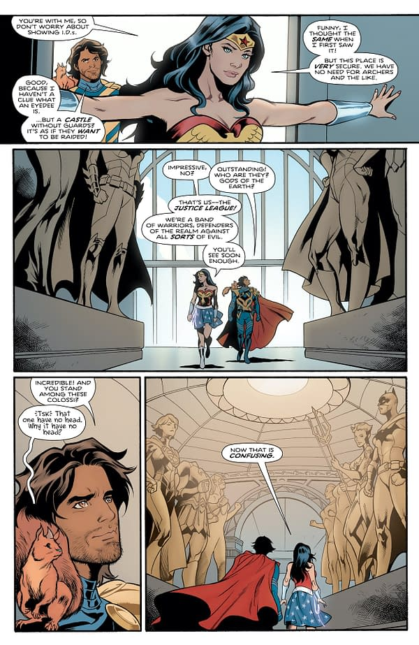 Interior preview page from WONDER WOMAN #777 CVR A TRAVIS MOORE