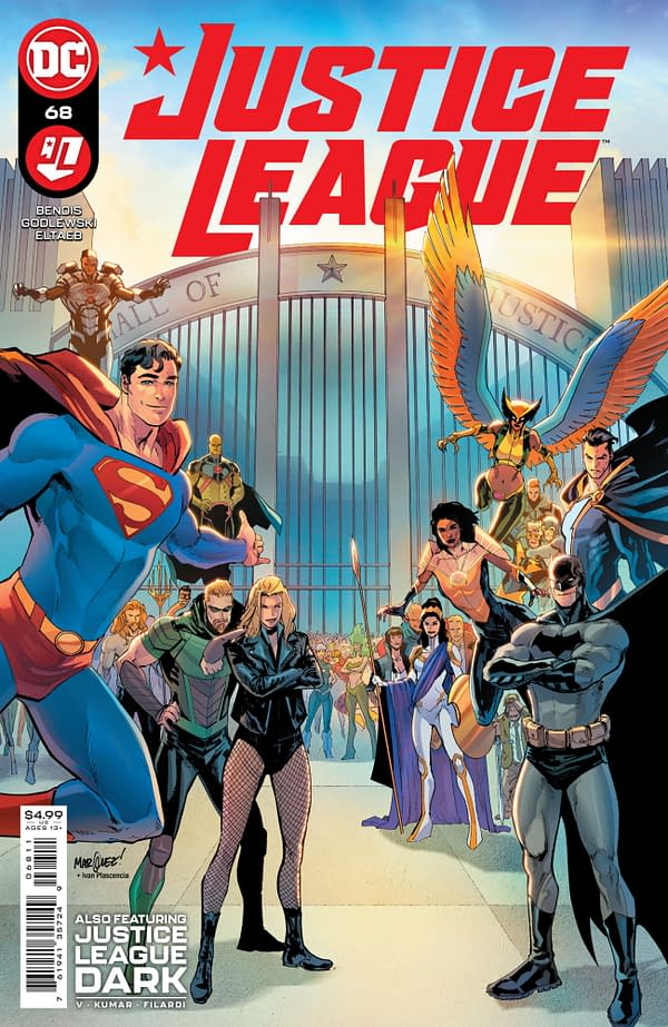 Cover image for JUSTICE LEAGUE #68 CVR A DAVID MARQUEZ