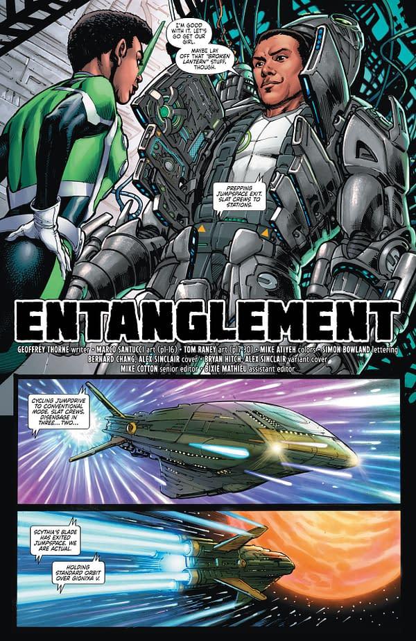 Interior preview page from GREEN LANTERN #6 CVR A BERNARD CHANG