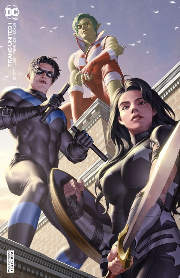 Variant cover for TITANS UNITED #1 (OF 7), by (W) Cavan Scott (A) Jose Luis (CA) Jamal Campbell, in stores Tuesday, September 14, 2021 from DC Comics