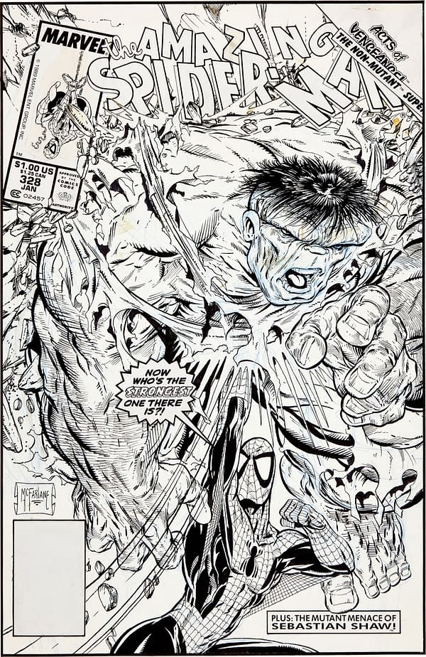 Todd McFarlane Amazing Spider-Man #328 Original Cover Art Sells For Record $657,250