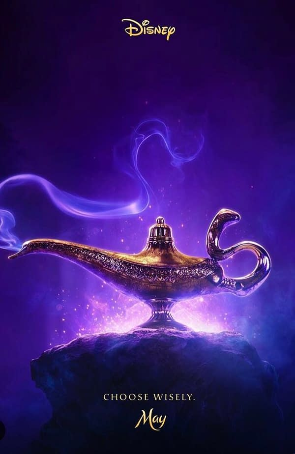 Disney Releases Teaser Poster for Guy Ritchie's 'Aladdin'