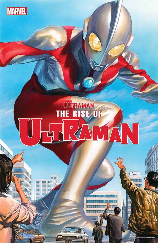 Alex Ross's cover to The Rise of Ultraman from Marvel Comics. Ultraman
