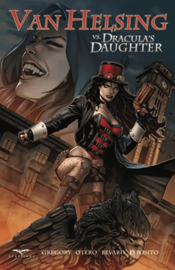 Van Helsing vs. Dracula's Daughter cover. Credit: Zenescope Entertainment.