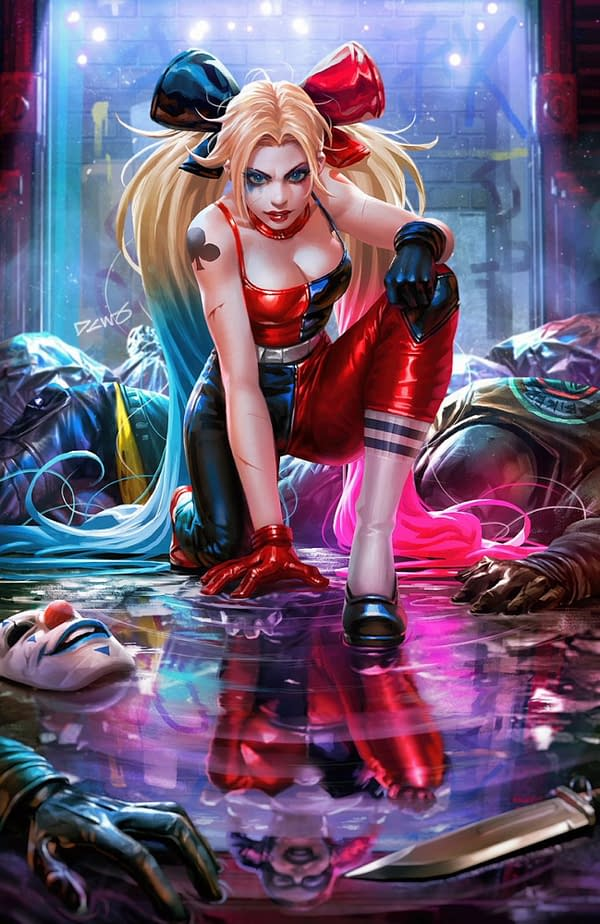Separated At Birth: Derrick Chew Harley Quinn and Mark Brooks