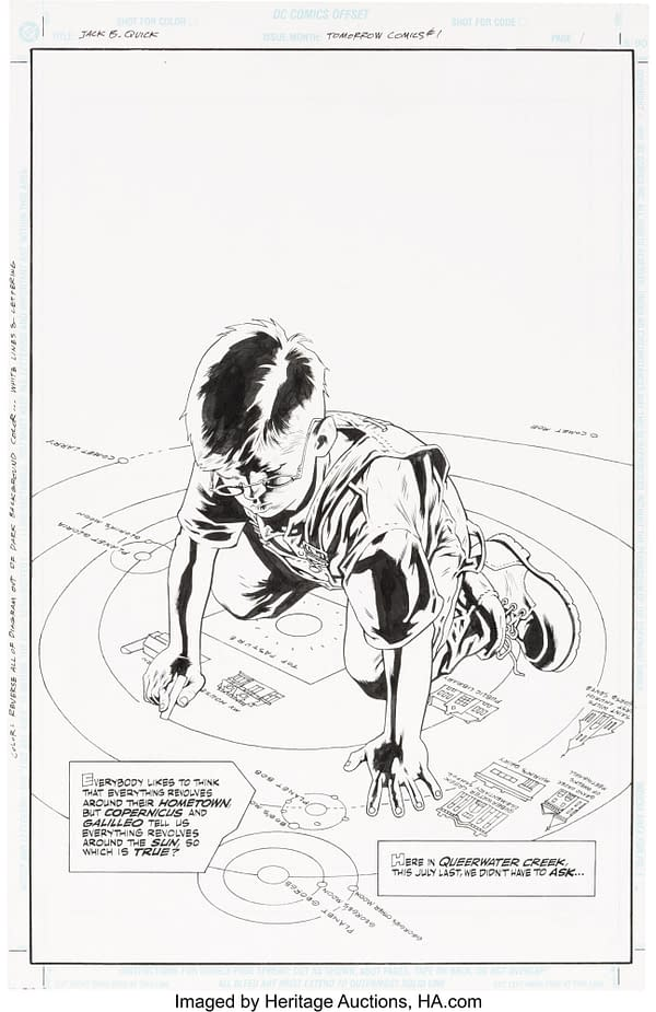 Full Original Art for Alan Moore & Kevin Nowlan Jack B Quick Auction.