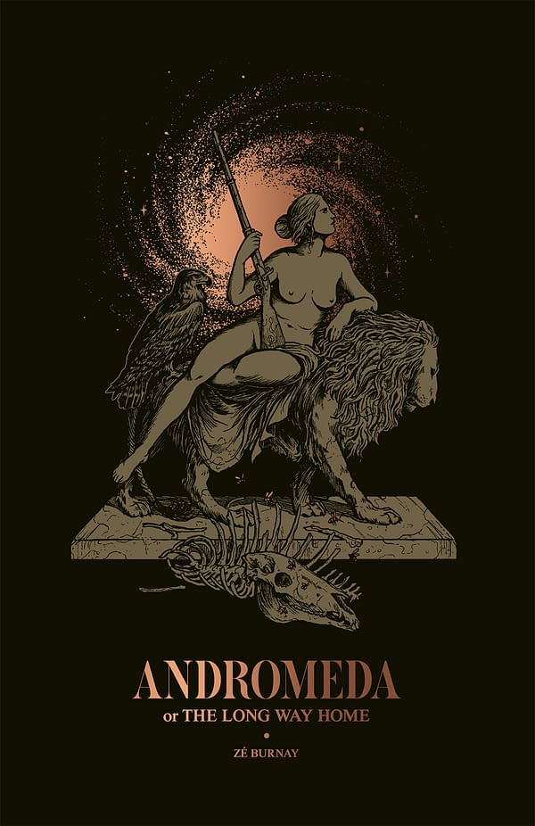 Mike Mignola's Pin-Up for Ze Burnay's Beautiful Graphic Novel, Andromeda Or The Long Way Home