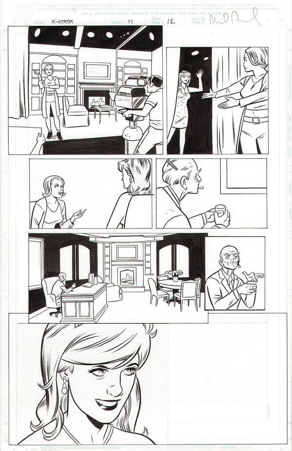 Michael Allred's Original Princess Diana Art, Banned By Marvel Comics