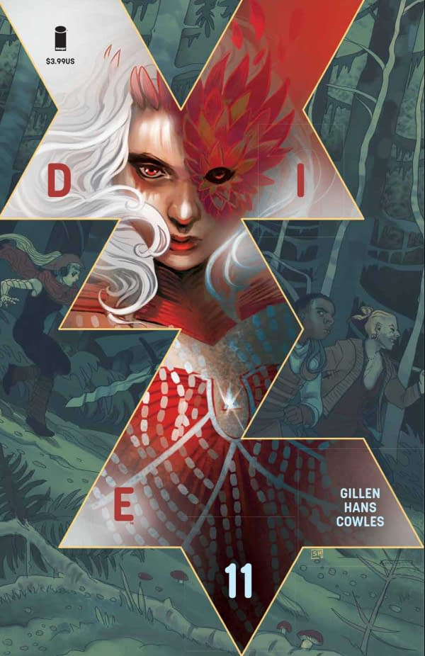 The cover of DIE #11 published by Image Comics with the creative team of Kieron Gillen, Stephanie Hans, and Clayton Cowles.