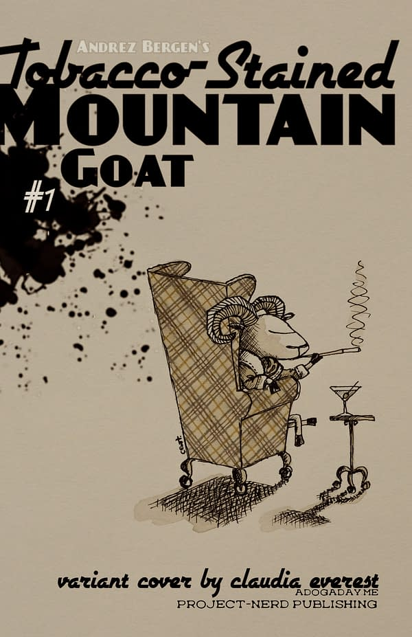 Tobacco-Stained Mountain Goat_variant cover by Claudia Everest