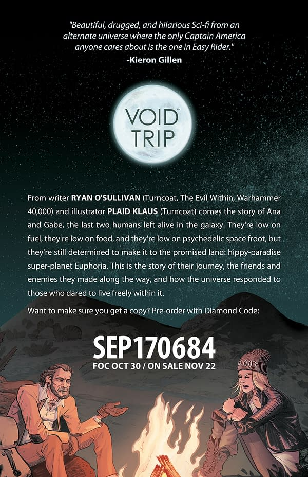 A Preview Of Image Comics' Void Trip – And What Is With The White Noise Writers Studio?