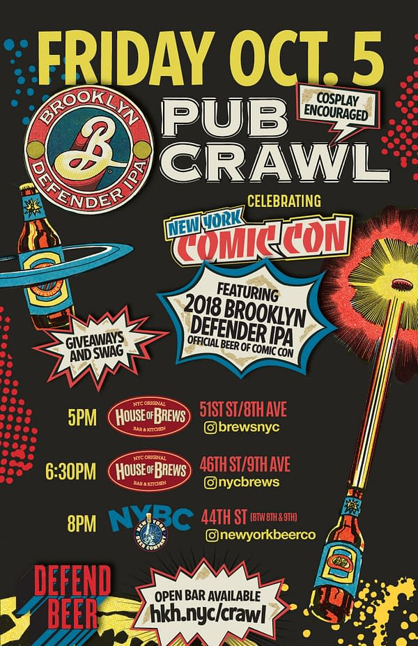 New York Comic Con 2018 Party List – A Second Stab