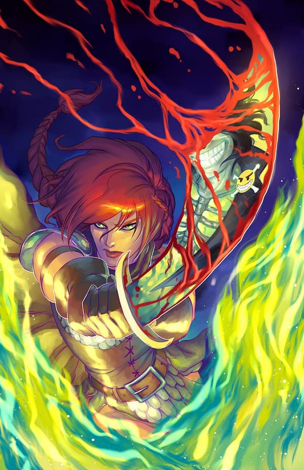 Process Junkie: The Making of Meghan Hetrick's Red Sonja Age Of Chaos #2 FOC Cover
