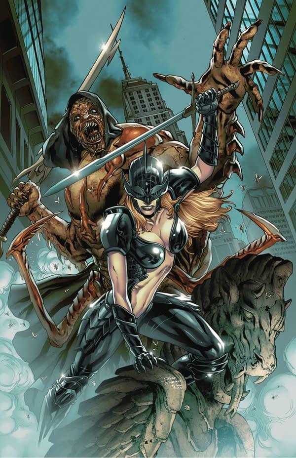 Grimm Spotlight: Black Knight vs. Lord of Flies cover. Credit: Zenescope Entertainment