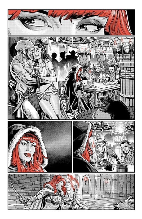 Dynamite Jumps On The Black, White & Red Bandwagon With Red Sonja