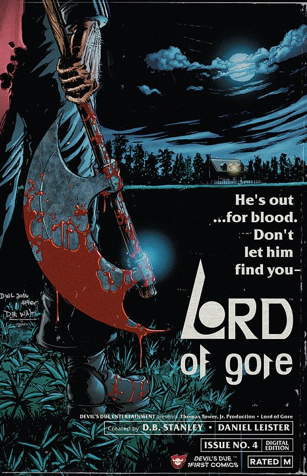 Lord of Gore #4 cover by Daniel Leister