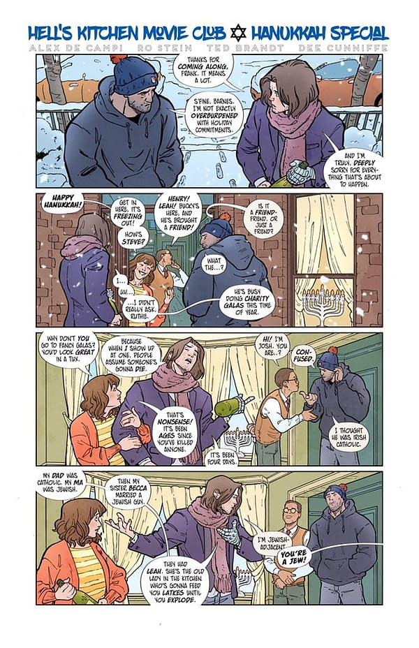 Alex De Campi Gives Bucky Barnes A Happy Hanukkah