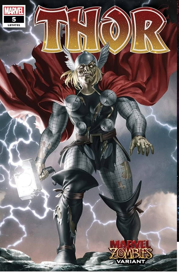 Thor #5 Zombie Variant Cover