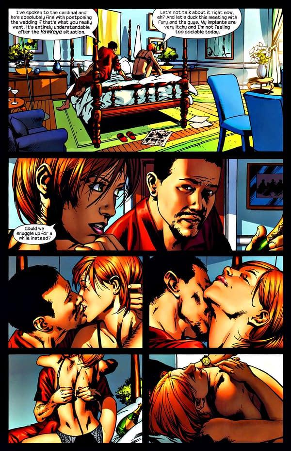 Tony Stark & Black Widow Ultimate Sex Scene by Bryan Hitch, Auctioned