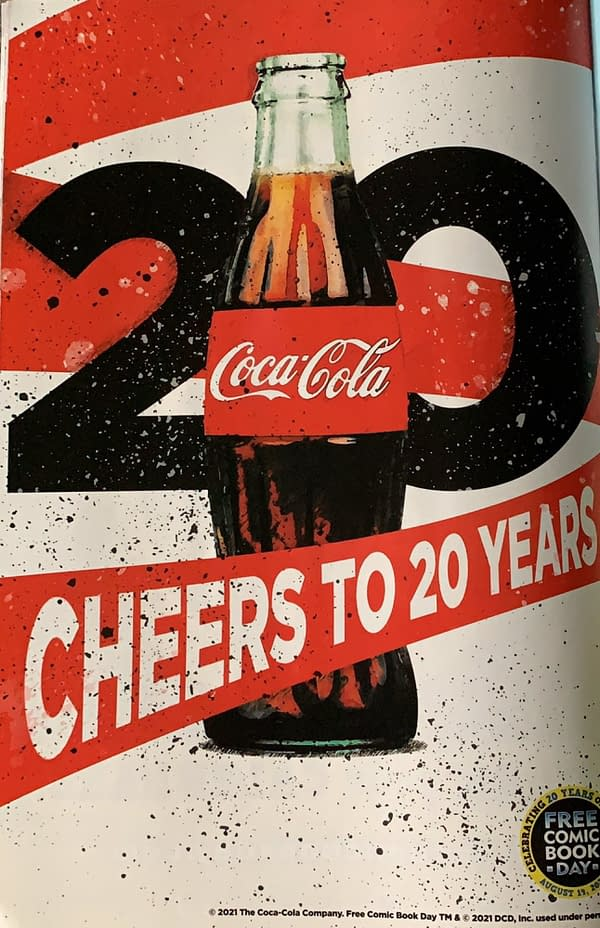 Coca-Cola Runs Free Comic Book Day Ads In Comics This Week