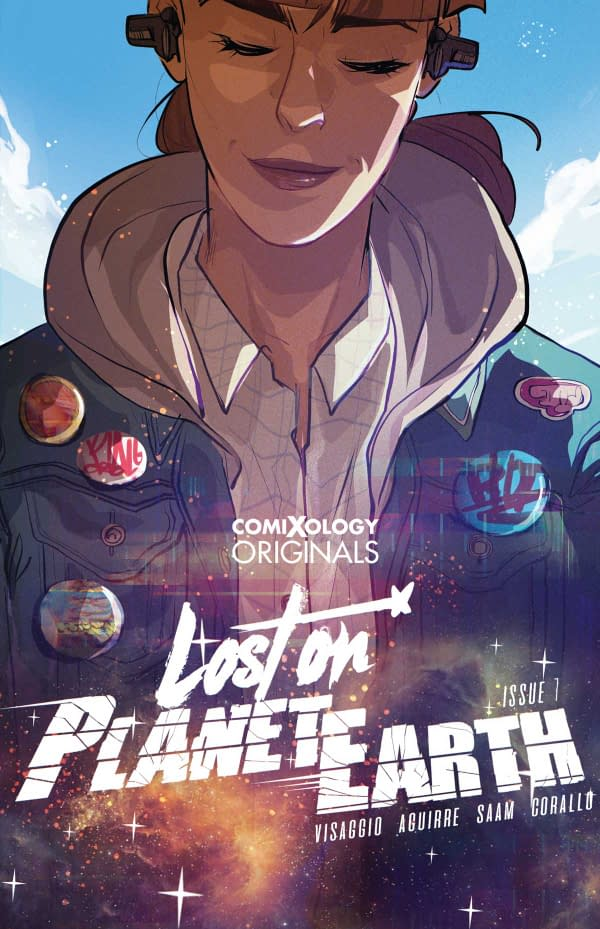The cover of Lost on Planet Earth #1 which is a Comixology Original.