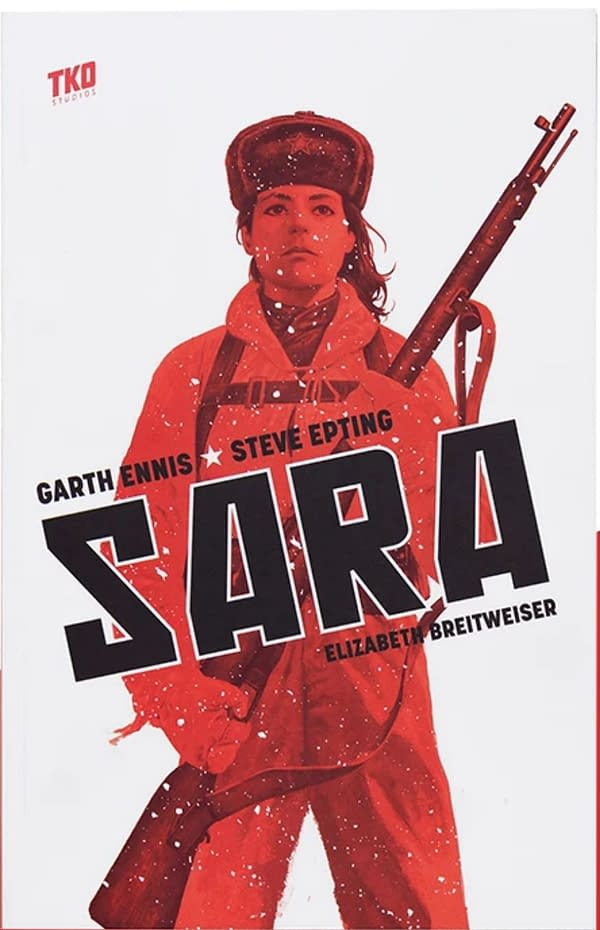 The cover of Sara by Garth Ennis, Steve Epting, and Elizabeth Breitweiser.