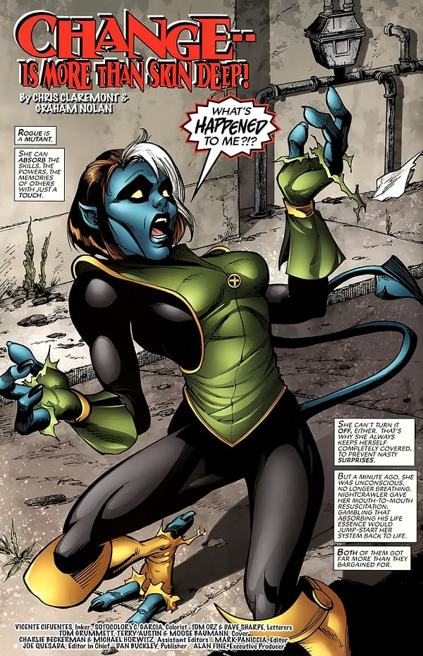 That Time Rogue and Nightcrawler Got Warped Before Infinity Warp in Chris Claremont's X-Men Forever