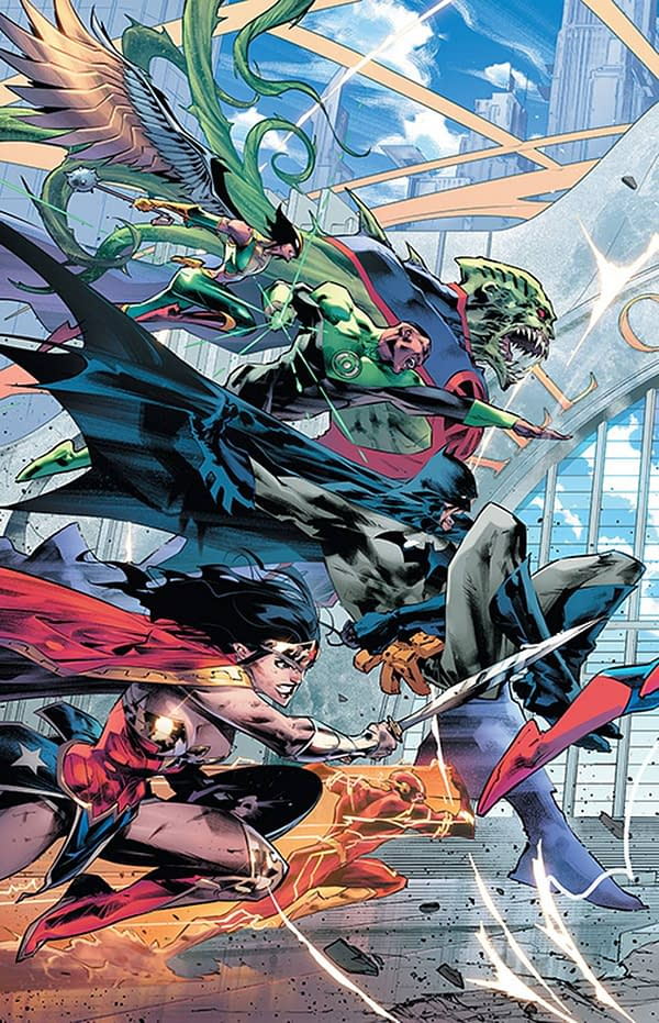 Jorge Jimenez's Sixth Dimension Justice League Triptych Now All on One Issue