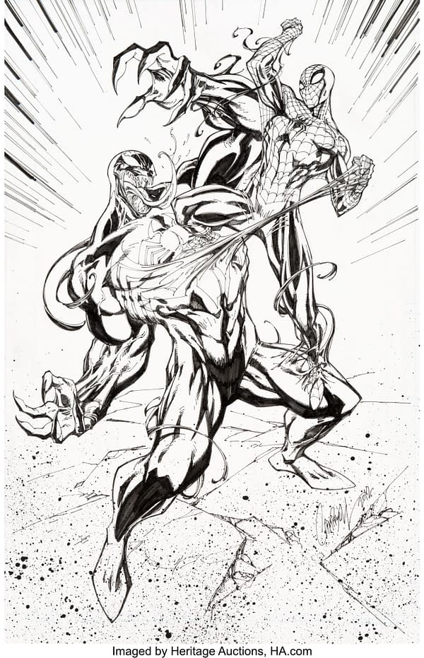 J. Scott Campbell Superior Spider-Man Cover Up For Auction