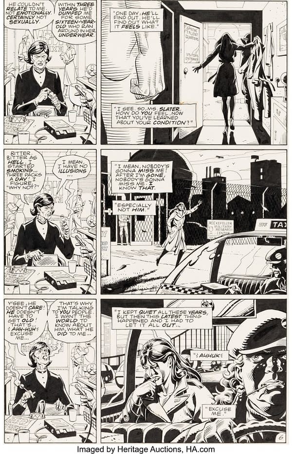 Two Original Artwork Pages From Watchmen, Go To Auction Today