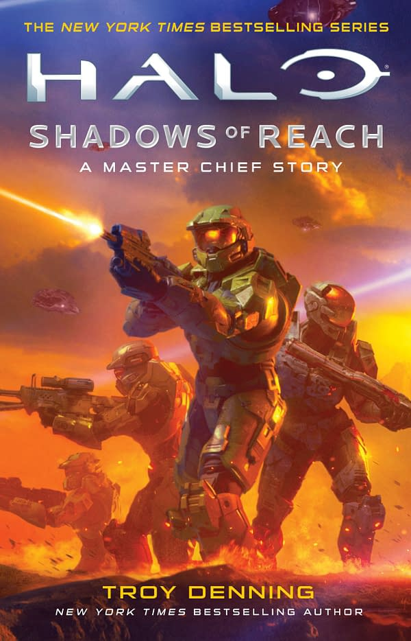The cover of Halo: Shadows Of Reach, courtesy of Gallery Books.