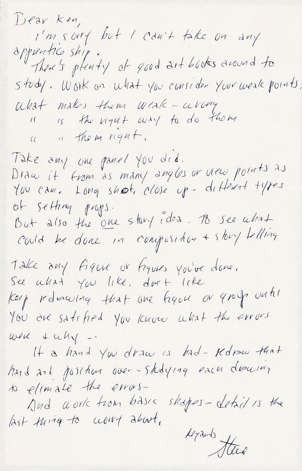 Steve Ditko letter to Ken Landgraf, 1973