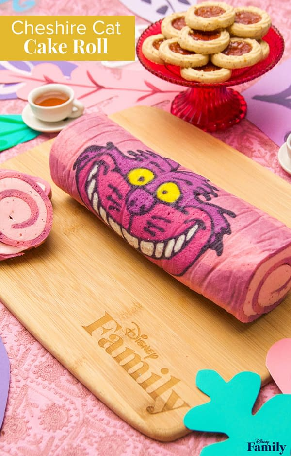 Nerd Food: This Cheshire Cat Cake Roll Looks Curiously Delicious!