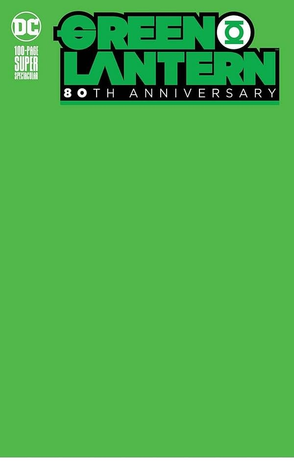 Green Lantern 80th Anniversary Special #1 Blank Variant Cover