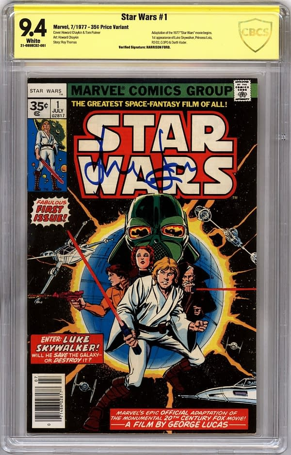 Star Wars #1 Signed By Harrison Ford Up For Auction At ComicConnect