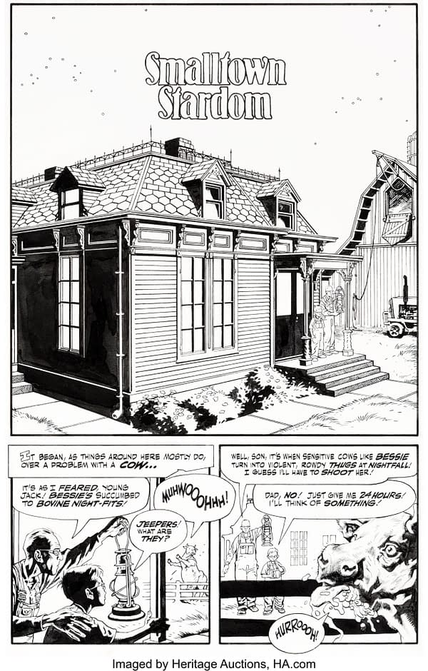Full Original Art for Alan Moore & Kevin Nowlan Jack B Quick Auction