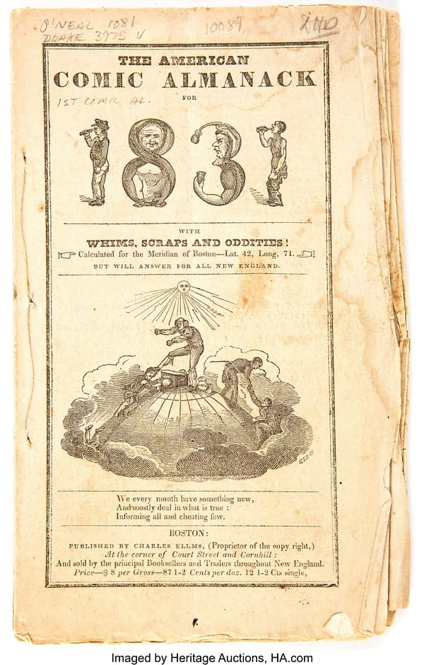 The American Comic Almanack for 1831, published by Charles Ellms.