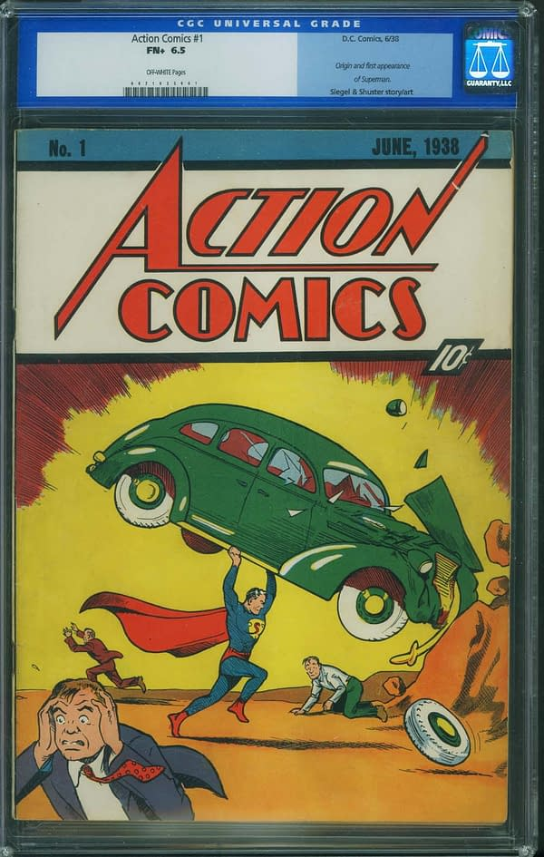 Action Comics #1 CGC 6.5 Sells For $625,000