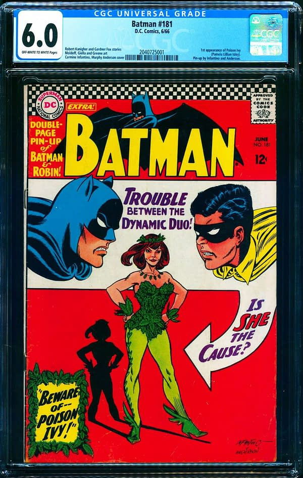 The issue of Batman #181 up for auction at ComicConnect. Image Credit: ComicConnect