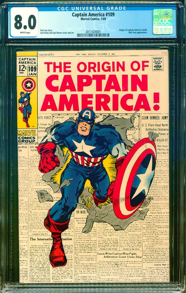 One Of The Coolest Captain America Comics Is Up For Auction