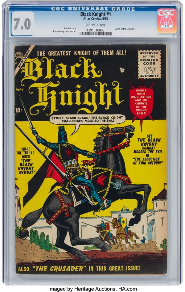 Snag A CGC Copy Of Black Knight #1 Before Eternals Hype At Heritage