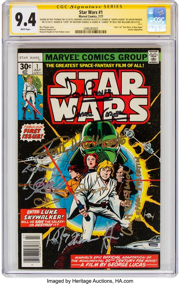 A Graded And Cast Signed Copy Of Marvel Star Wars #1 Up For Auction