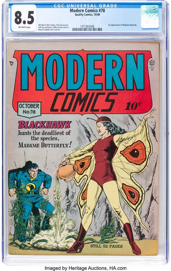 Modern Comics #78 featuring Blackhawk, cover-dated October 1948 from Quality Comics.