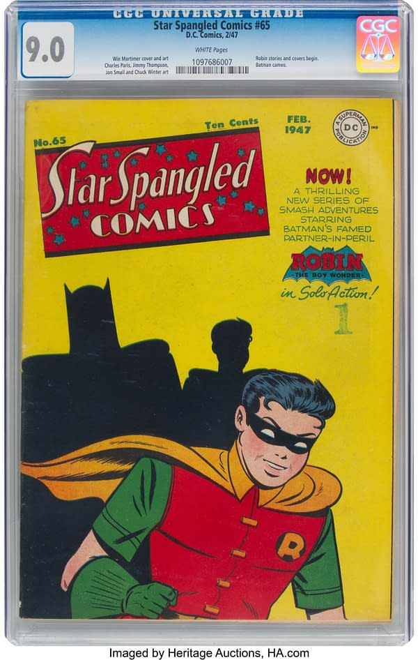 Star Spangled Comics #65, cover-dated February 1947 featuring Robin from DC Comics.
