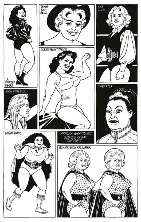 Jamie Hernandez To Publish 40 Years Of Women Wrestling Cartoons