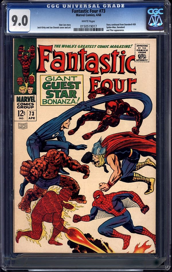 Fantastic Four #73 CGC Copy On Auction At ComicConnect