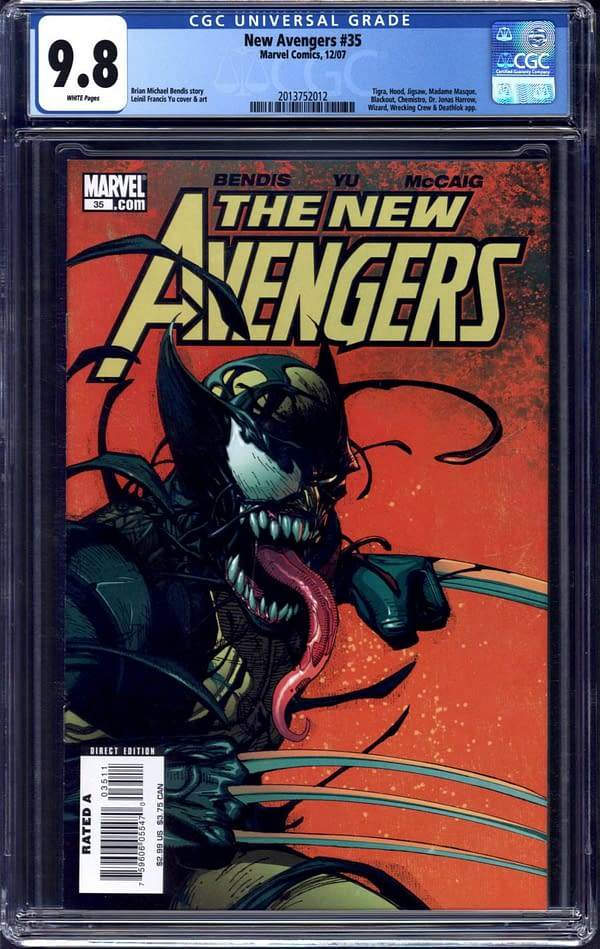 Classic Venom/Wolverine Cover CGC Highest Grade On Auction TOday