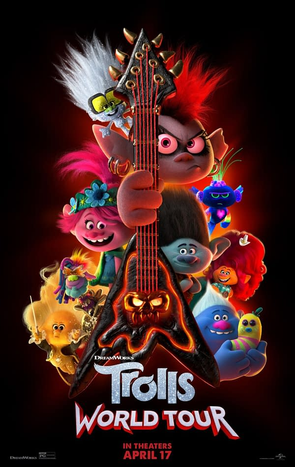 The official poster for Trolls World Tour distributed by Universal Pictures.
