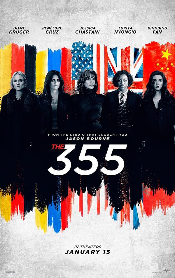 The First Posters for The 355 Introduces the Cast, Trailer Tonight