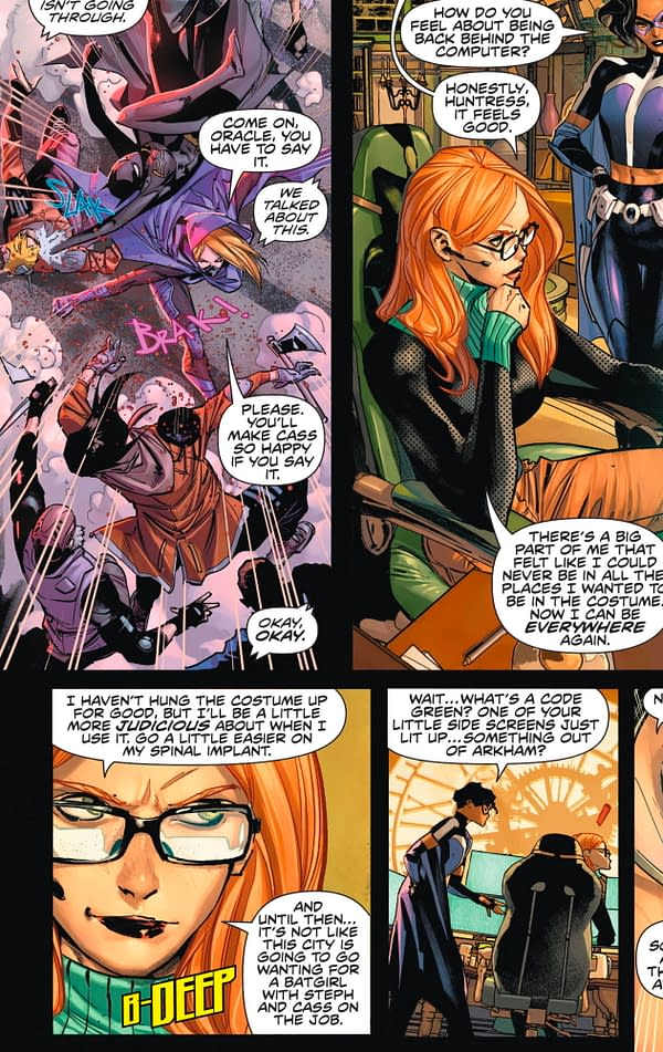 Barbara Gordon, Happy To Be Oracle in Infinite Frontier and Batman